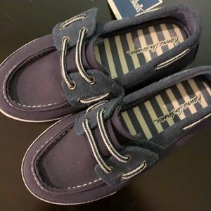 Brand new navy Hannah Anderson canvas shoes